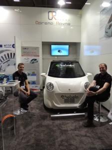 Konzept eines urbanen Elektroautos (links Goran Ognjanović, rechts Marijan Kotnik)