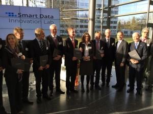 Gründungspartner des Smart Data Innovation Lab, Karlsruhe, 08.01.2014, Fotonachweis: DFKI