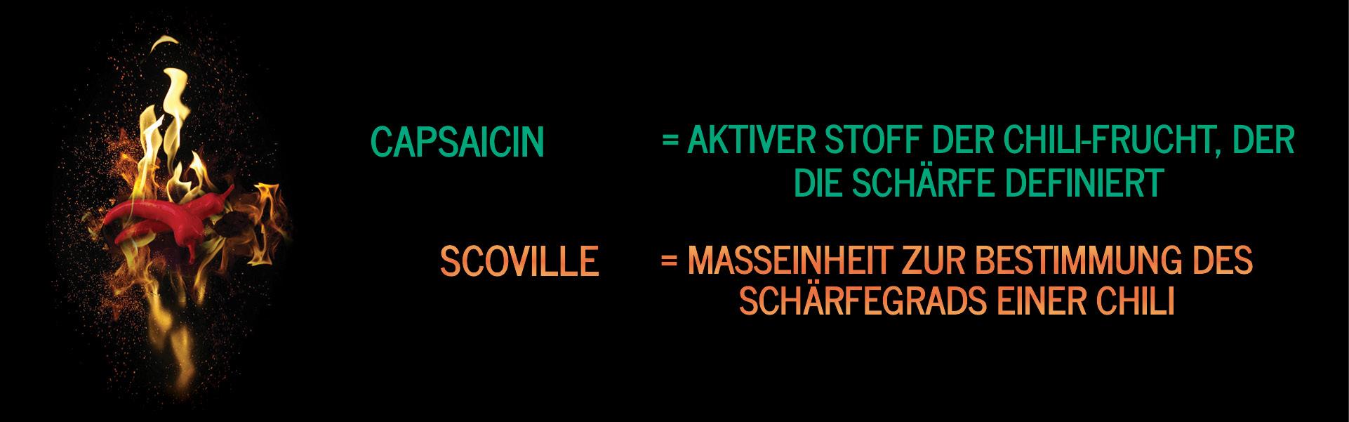 Capscovil - Über uns - Der Name Capscovil entstand aus der Kombination von Capsaicin und Scoville