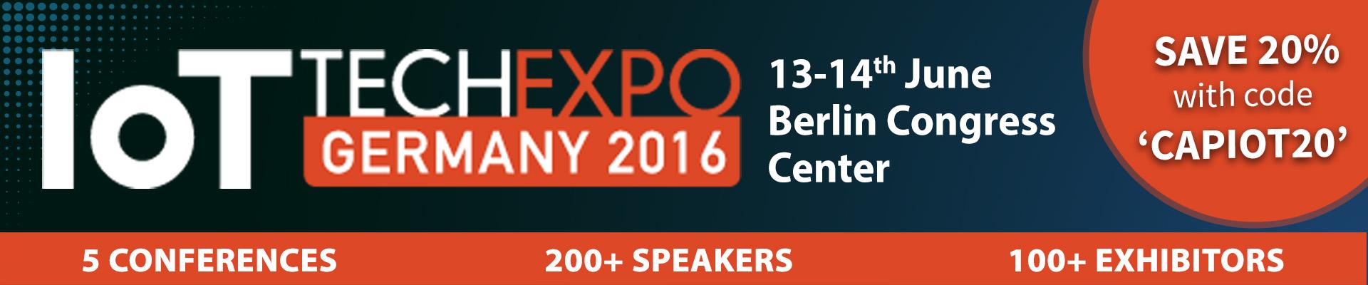 IoT Tech Expo Germany 2016 Berlin
