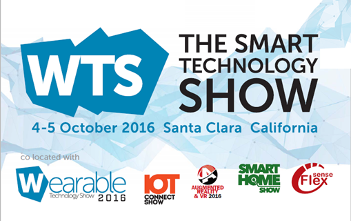 The Smart Technology Show USA 2016 - 4-5 October, Santa Clara Convention Center
