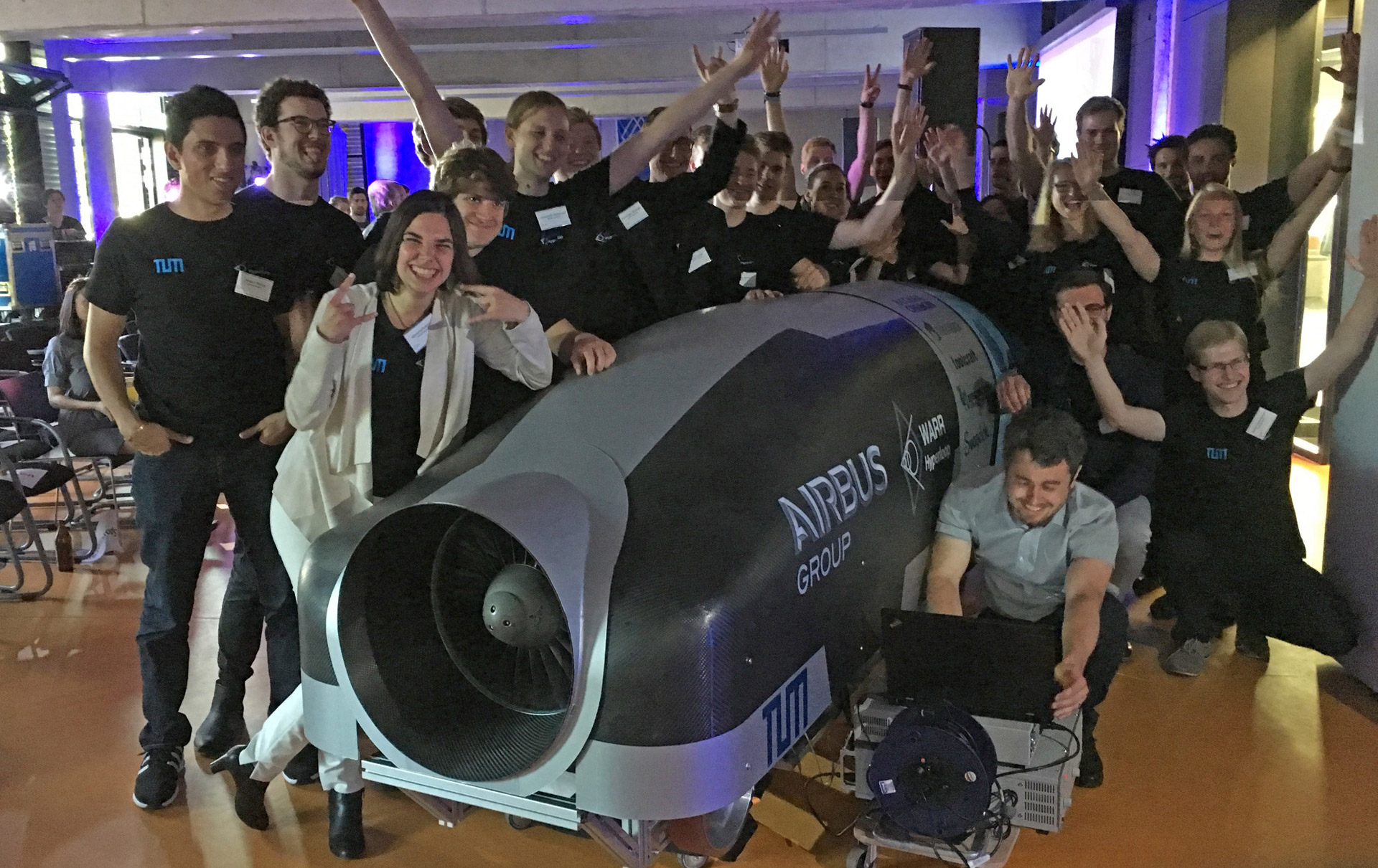 WARR Hyperloop Pod Prototype Presentation Munich July 4, 2106