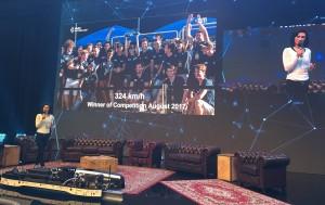 StartupCon 2017: 2nd WARR Hyperloop student team presentation on winning the Hyperloop Pod contenst