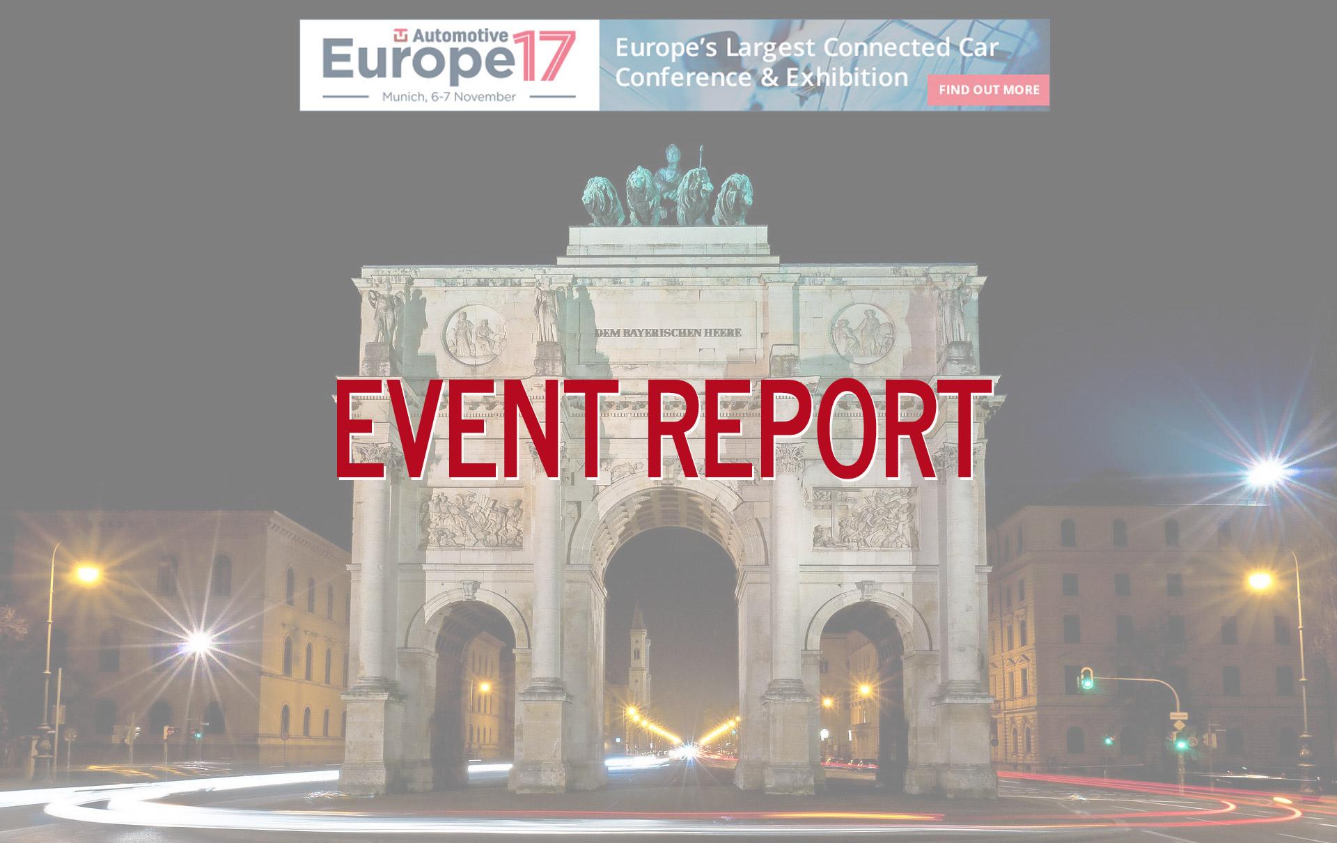 Event Report for TU Automotive Europe