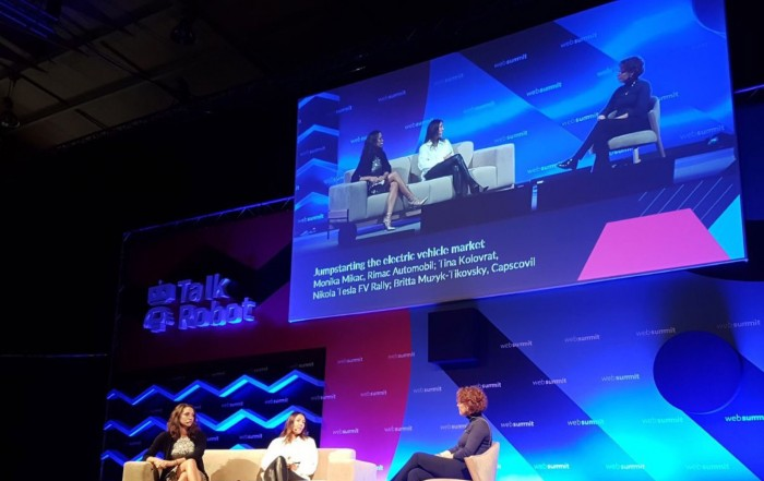 Web Summit 2017: Capscovil founder speaking with COO of Rimac Automobili and Founder of Nikola Tesla EV Rally at auto:tech panel