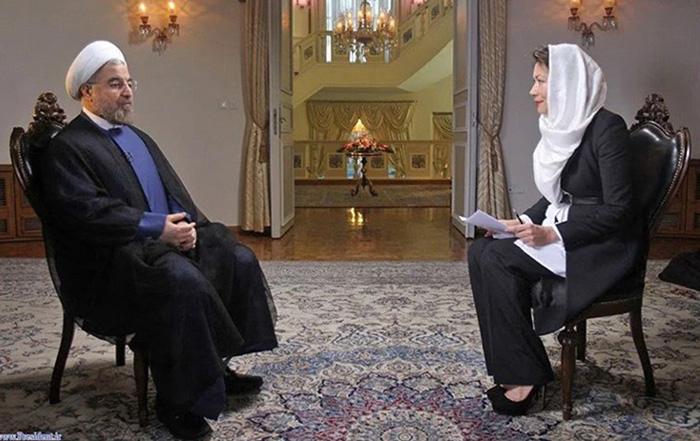 Ann Curry interviewt Iran's Präsident Hassan Rouhani. Foto von Mike Simon